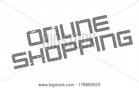 Online Shopping rubber stamp. Grunge design with dust scratches. Effects can be easily removed for a clean, crisp look. Color is easily changed.