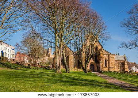 St Mary's Church Scarborough - Scarborough is a town on the North Sea coast of North Yorkshire. St Mary's Church is located on Castle Hill next to the castle