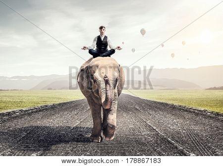 He possesses animal strength and power