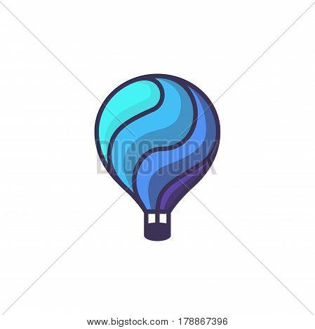 Hot air baloon logo. Cartoon illustration of baloon vector icon for web design or logo template