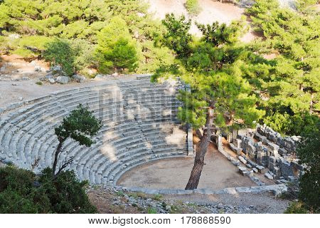 Ruins  And Theatre    Arykanda Turkey    Old  Temple