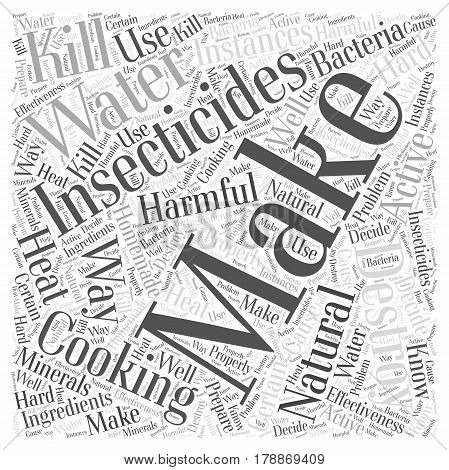 Making Your Own Natural Insecticides Word Cloud Concept