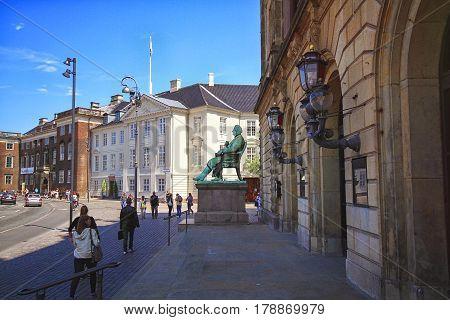 COPENHAGEN DENMARK - JUNE 15: At walls of Kongelige Theater located at Copenhagen Denmark in 2012