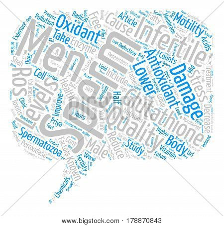 Male Infertility and Glutathione text background word cloud concept