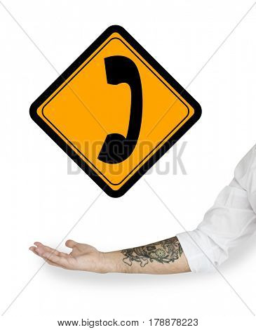 Phone Call Communication Contact Sign