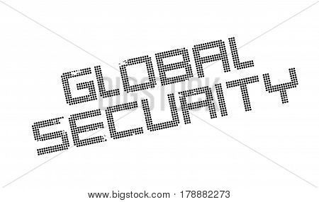 Global Security rubber stamp. Grunge design with dust scratches. Effects can be easily removed for a clean, crisp look. Color is easily changed.