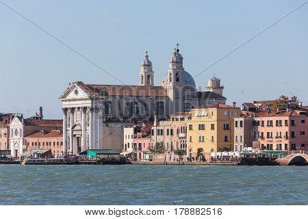 Fondamenta Delle Zattere Ai Gesuati Church In Venice, Italy