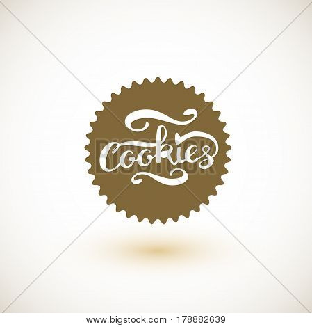 Cookie logo and Cookies Lettering. Vector Illustration EPS10