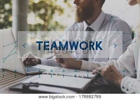 Collaboration Teamwork Business Strategy Target Word