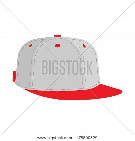 hip hop or rapper baseball cap. Vector illustration. flat icon on white background
