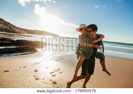 Romantic Young Couple Enjoying Summer Holidays