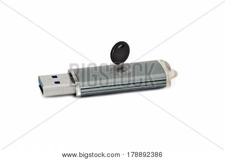Flash drive with built-in lock. The concept of security and data security