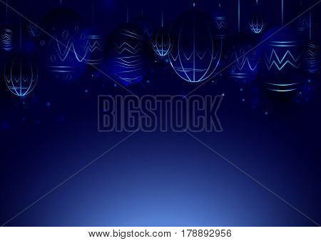 Abstract Lines Circuit Lights technology digital hi tech easter eggs concept background