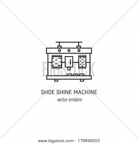Vector logo design shoe shine machines. Shoe Shine service. Outline icon for shoe care in trendy linear style.