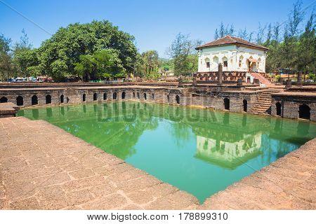 The Safa Shahouri Masjid, Phonda, Goa, India.