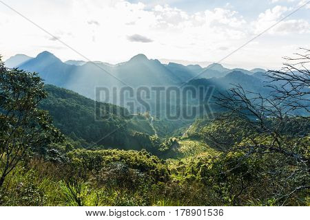 Mountain Peak Landscape Green Grass
