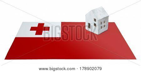 Small House On A Flag - Tonga