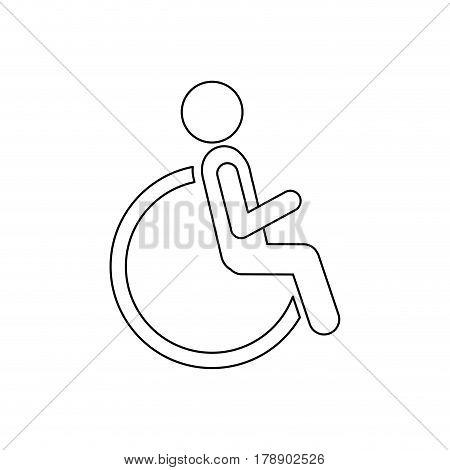 figure person sitting in wheelchair icon, vector illustration design