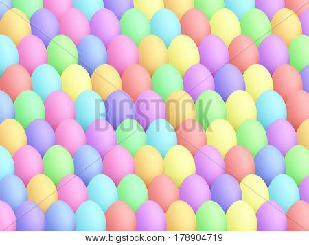 Easter Eggs Background Cartoon Style Smooth Colors 1