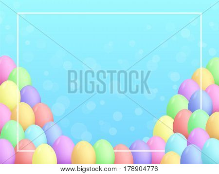 Easter Eggs Background Cartoon Style Smooth Colors 3