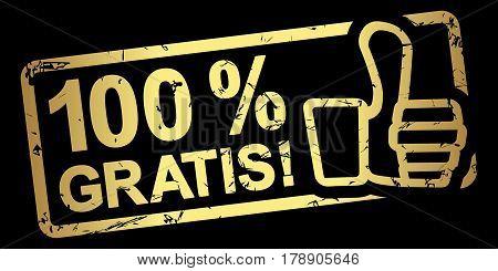 Gold Stamp 100 % Gratis