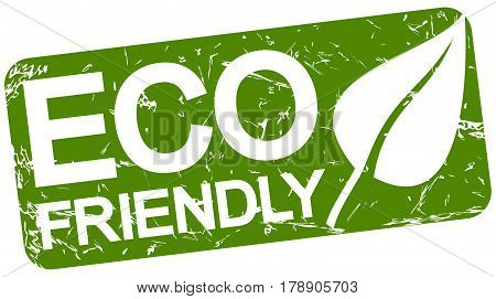 Green Stamp With Text Eco Friendly