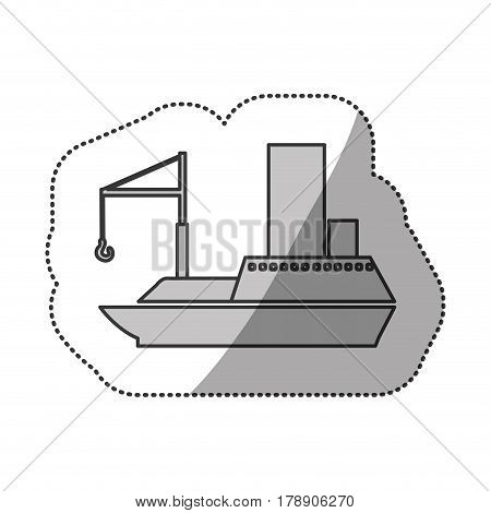 contour ship maritime transpotation, vector illustration design