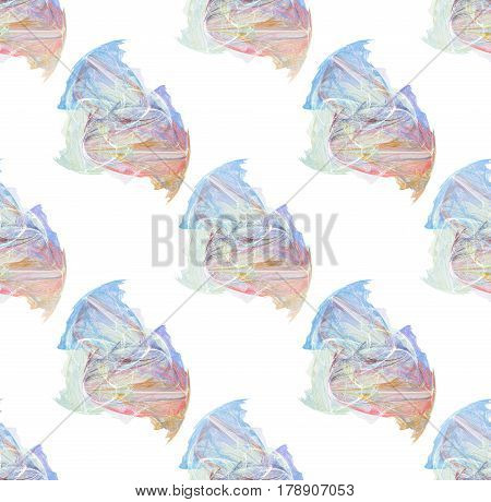 Multicolored seamless pattern over white background. Tileable background