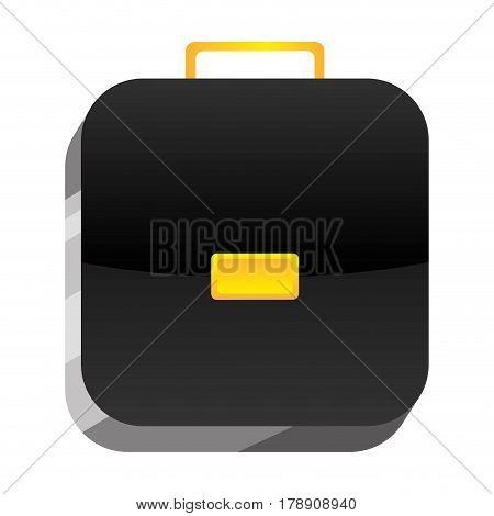 3d botton suitcase icon, vector illustration design