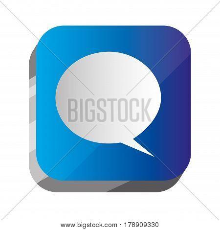 3d button chat bubble communication, vector illustration design
