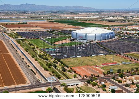 Glendale Arizona-March 27 2017-The NCAA Final Four arrives in the Valley of the Sun this week with events in Phoenix and games held at the University of Phoenix in Glendale.