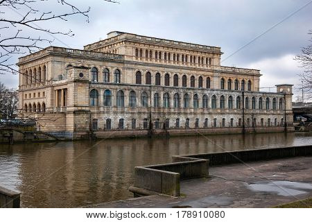 Building of the former Koenigsberg exchange (Now the city of Kaliningrad, Russia). Now the regional center of youth culture, the architectural style of Neo-Renaissance.