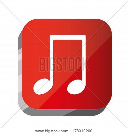 3d button musical sign icon, vector illustration design