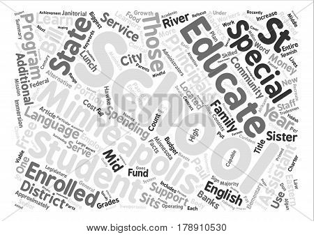 Minneapolis Schools Just The Facts Word Cloud Concept Text Background