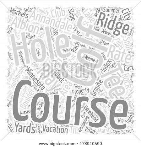 Minnesota Golf Course in the Annandale Area text background word cloud concept
