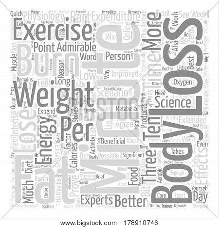 Minute Weight Loss Exercise Proves Most Effective text background word cloud concept