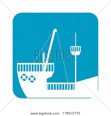 picture ship maritime transpotation, vector illustration design