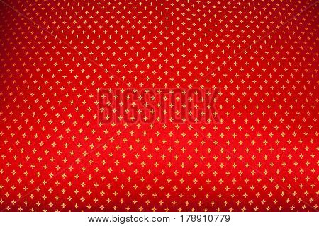 Background Texture Of Pattern On Red Background. Christmas Mood