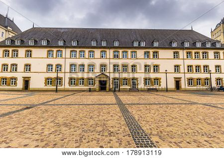 Luxembourg City, Luxembourg - October 22, 2016: Old Town Of Luxembourg City