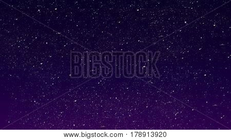 Dark blue purple Starry night sky with many stars. Summer night. Space seen from the Earth