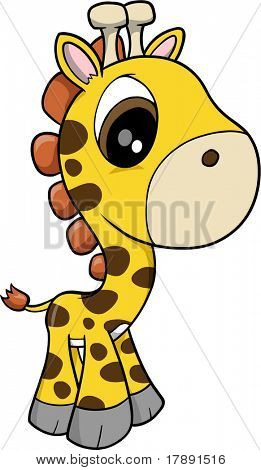 Baby Giraffe Vector Illustration