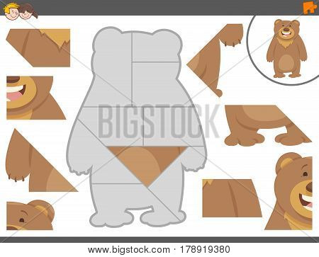 Jigsaw Puzzle Game With Bear