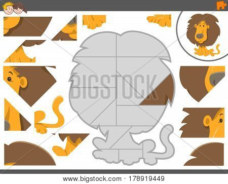 Jigsaw Puzzle Game With Lion