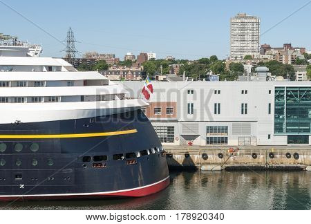 The cruise liner docked in Halifax city (Nova Scotia Canada).