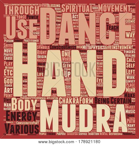 Mudras Hand Symbolism Hand Mysteries text background wordcloud concept