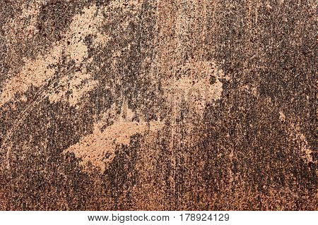 Shiny golden Cosmetics smeared on Surface. Art Background with Texture
