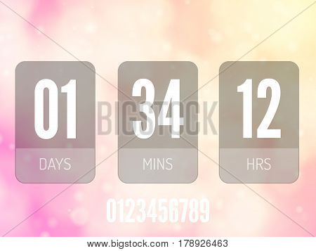 Transparent Glass Countdown timer isolated. Vector illustration