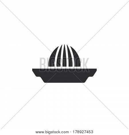 Citrus squeezer icon vector Juice Extractor solid flat sign pictogram isolated on white logo illustration