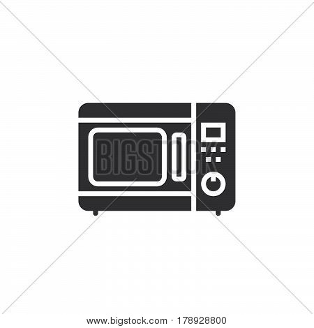 microwave oven icon vector solid flat sign pictogram isolated on white logo illustration