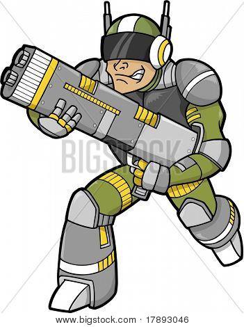 Space Trooper Vector Illustration